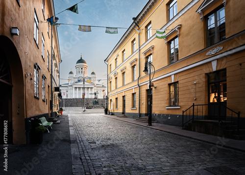 Fotografie, Obraz Helsinki Cathedral on early morning.