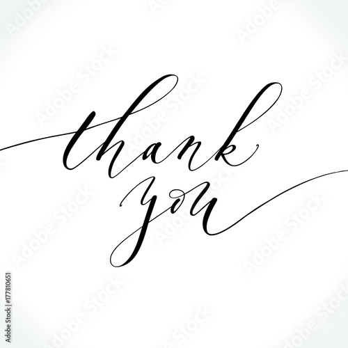 thank you modern calligraphy brush painted letters lettering