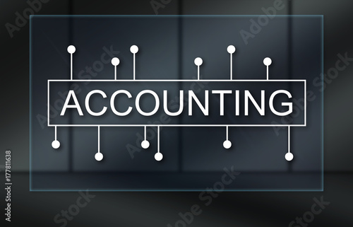 Fototapety, obrazy: Concept of accounting