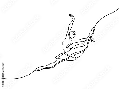 Obraz na plátne Continuous Line Art Drawing