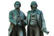 Goethe Schiller Denkmal - Weimar, freigestellt