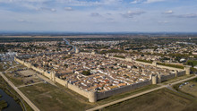 Aerial View Of Aigues-Mortes W...