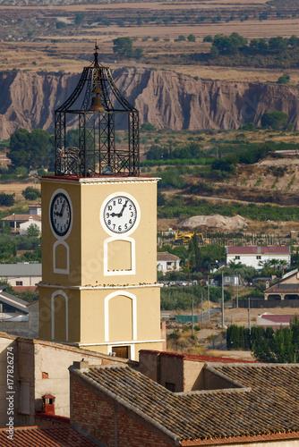 Fototapeta Wieża zegarowa. Pliego, Murcja, Hiszpania.