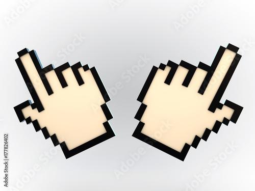 Wall Murals Pixel hand cursor