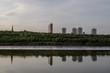 Tower block reflections, River Tyne, Newcastle upon Tyne