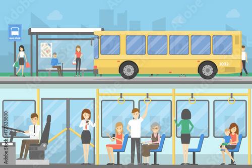 Canvastavla Bus stop set.