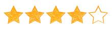 Five Gold Stars Raking Illustr...