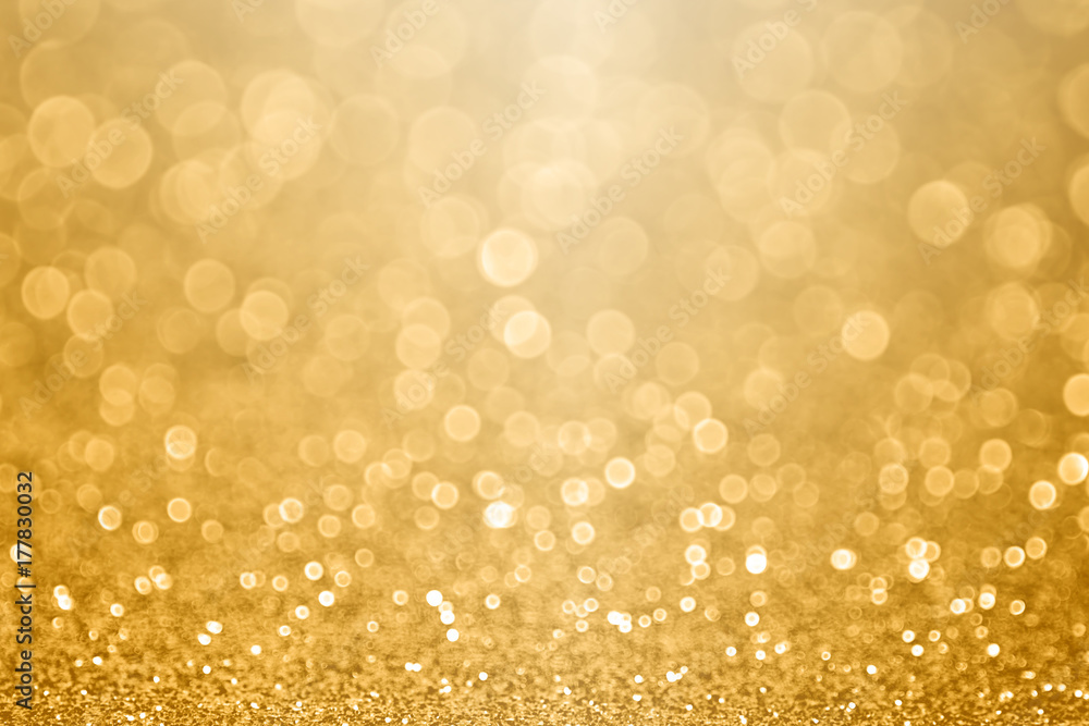 Fototapety, obrazy: Gold celebration background for anniversary, New Year Eve, Christmas, falling coins, wedding or birthday