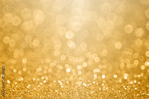 Fotografie, Obraz  Gold celebration background for anniversary, New Year Eve, Christmas, falling co