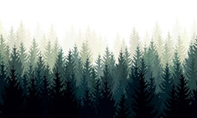 Vector Landscape With Green Si...