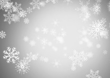 Grey Background With Snowflakes