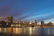 New York, Brooklyn bridge and downtown Manhattan