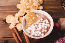 Gingerbread Man Bathes In A Cu...