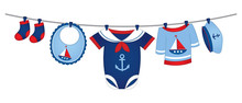 Vector Baby Clothes In Nautica...