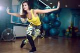 Zumba dance workout female