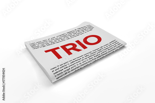 Foto  Trio on Newspaper background