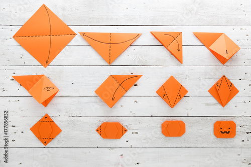 Origami Pumpkin Buy This Stock Photo And Explore Similar Images At