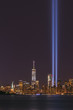 Statue of Liberty and Freedom Tower Tribute In Light