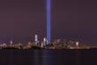 New York City Skyline on September 11th Anniversary