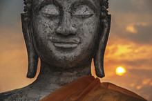 Carved Stone Buddha Statue; Wa...