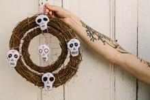 Sugar Skull Wreath For Halloween