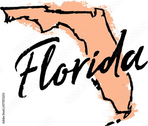 Hand Drawn Florida State Design