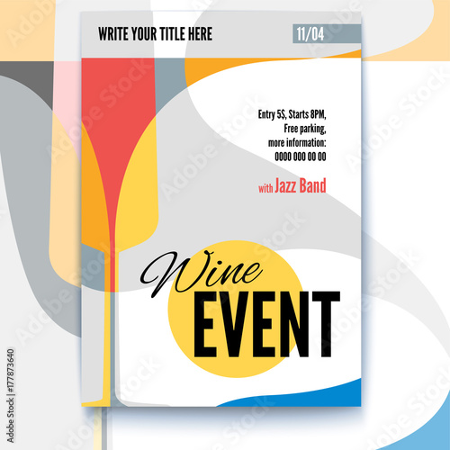 Event Menu Template | Vector Template Of Poster Design Layout For Brochure Banner Flyer