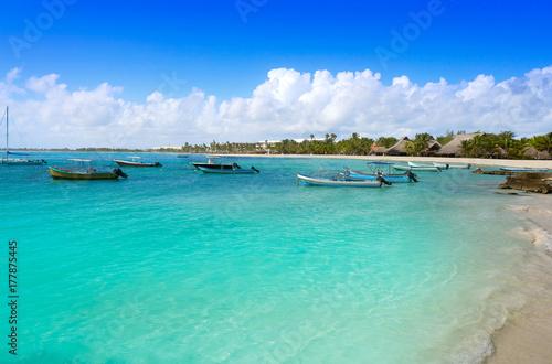 Fotobehang Akumal bay beach in Riviera Maya