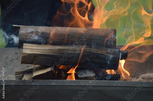 Zdjęcie XXL Płonące ogniska