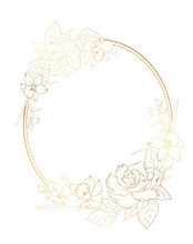 Oval Border Frame Decorated Wi...