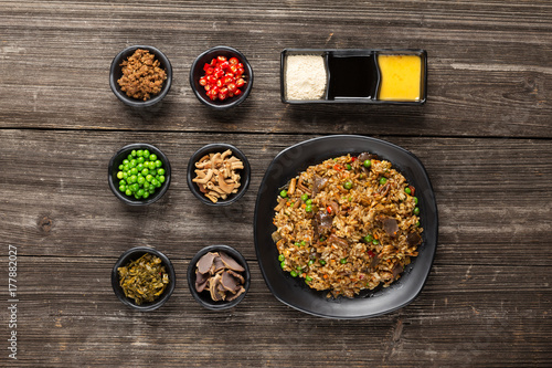 Photo Stands Asia Country tasty japanese food on table