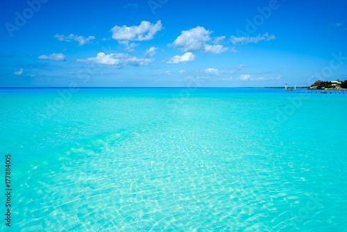Poster Turquoise Holbox island tropical beach Mexico
