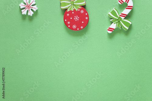 Plakat Boże Narodzenie ramki z miejsca kopiowania. Widok z góry