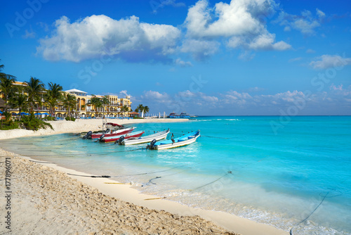 Canvas Prints American Famous Place Playa del Carmen beach in Riviera Maya