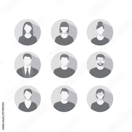 Fotografía  Set of profile icons for men and women