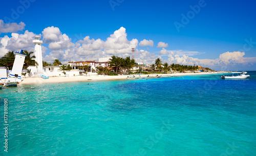 Foto op Canvas Tropical strand Puerto Morelos beach in Mayan Riviera