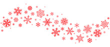Red Snowflakes Border