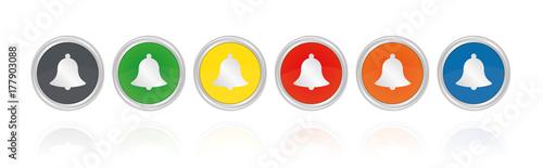 Fotografía  Glocke - Läuten - Silberne Buttons