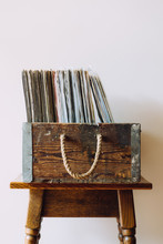 Vintage Record Collection In A...