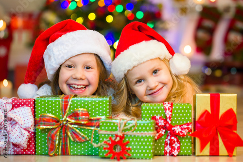 7659061f87450 little girls in christmas - Buy this stock photo and explore similar ...