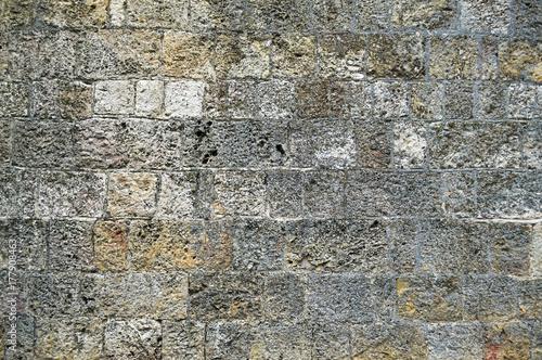 In de dag Stenen Stone wall pattern texture, white and gray