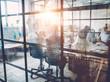 Leinwanddruck Bild - Young people work in modern office