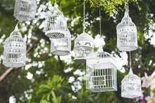 Beautiful White Birdcage Hangi...