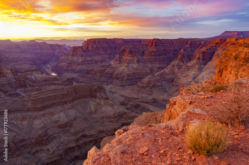 Poster Lichtroze Sunset view of the Grand Canyon in Arizona