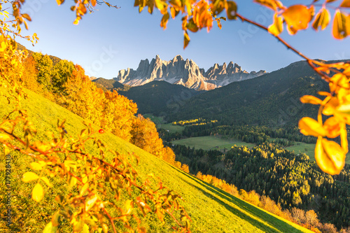 Autumn in the Alps, Funes Valley, Dolomites