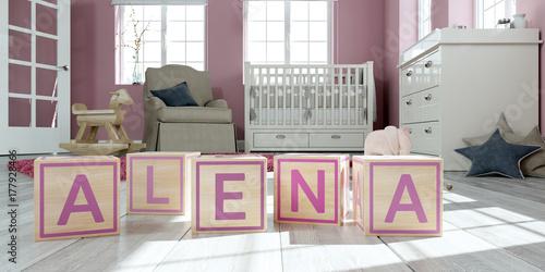 Photo Würfel Name - Alena