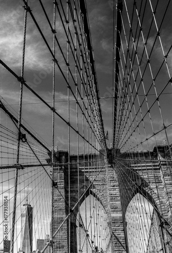 Brooklyn Bridge and Freedom Tower Poster
