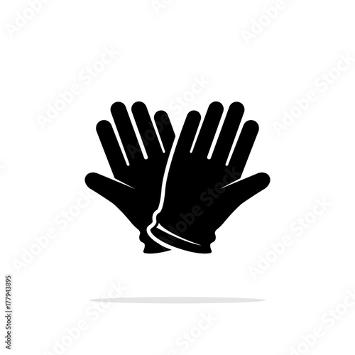 Icon of protective gloves. Wallpaper Mural