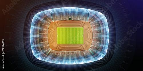 Fotografie, Obraz  aerial view of a soccer stadium