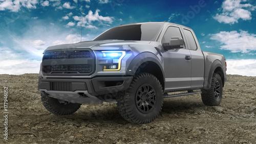 Obraz American Pickup Truck - fototapety do salonu